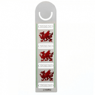 Coloured Welsh Dragon Bookmark